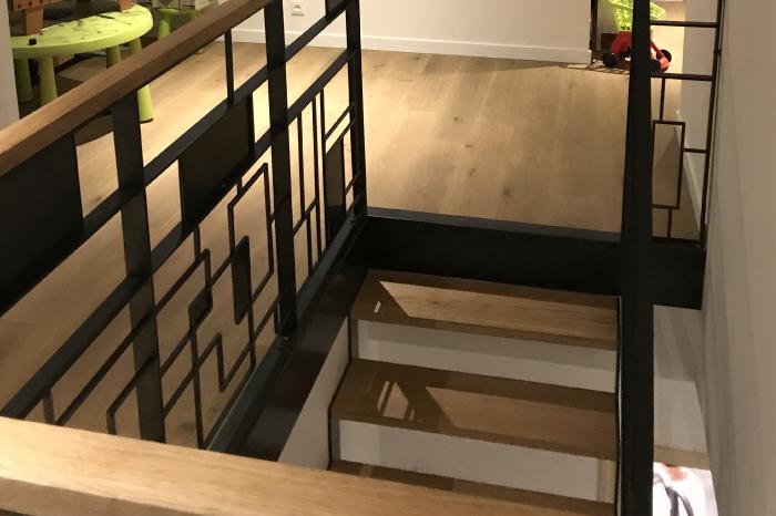 Escalier original en Bois et Fer forgé JPBriand