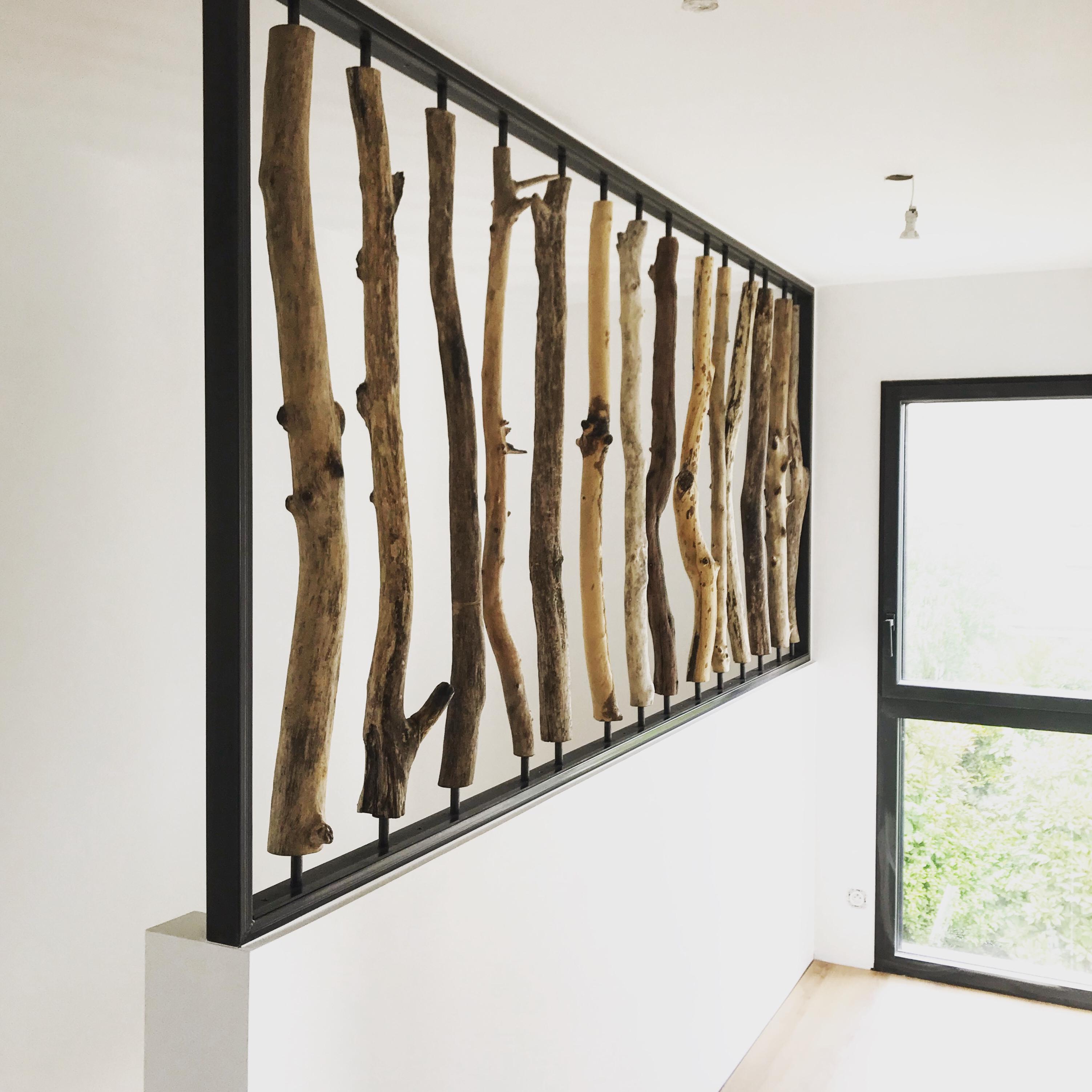 Créations En Bois Flotté mur en bois flotté - jp briand créations : création de